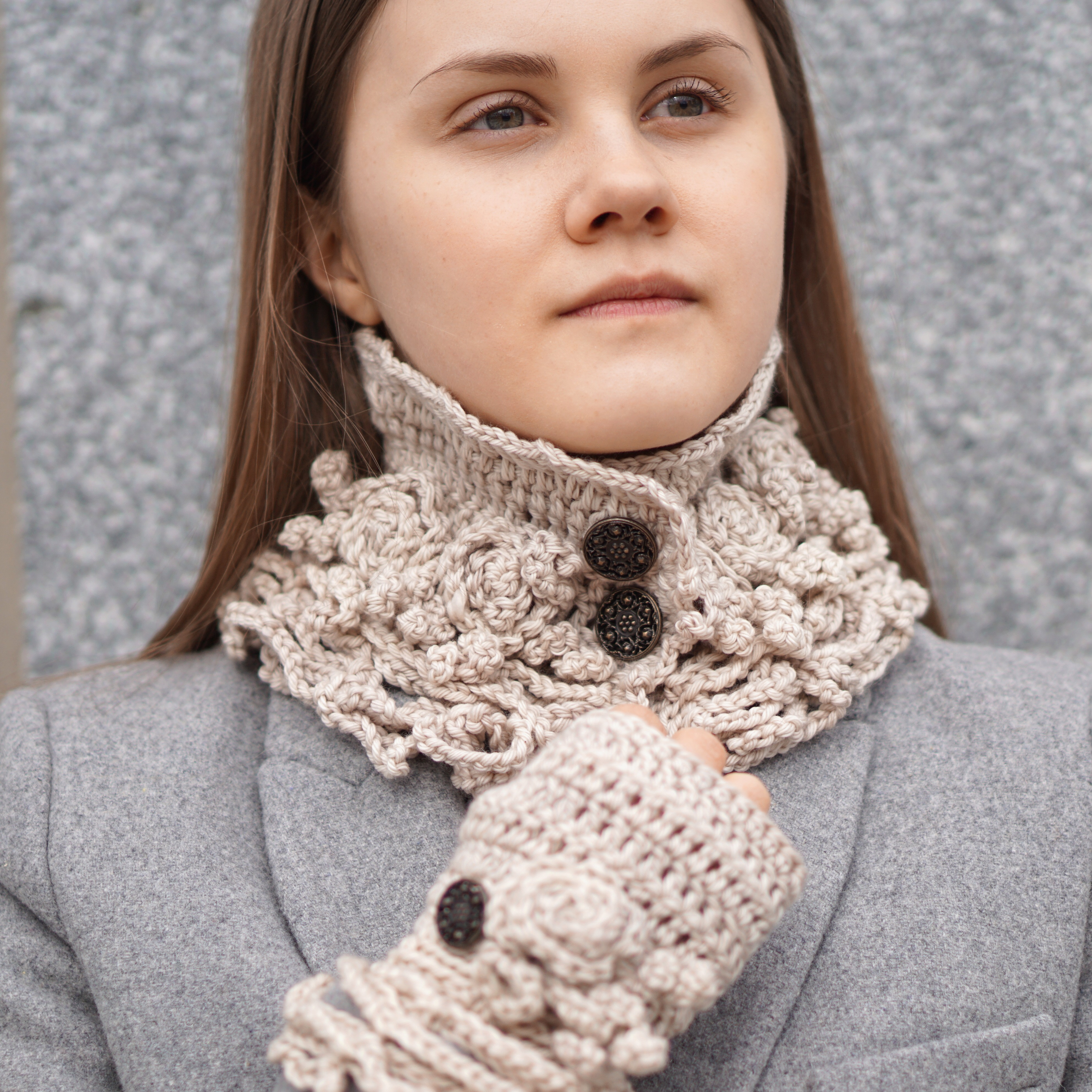 sophia rose eclectic collar scarf ivory3