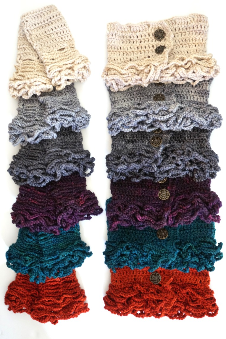 sophia scarf and hand warmers colours