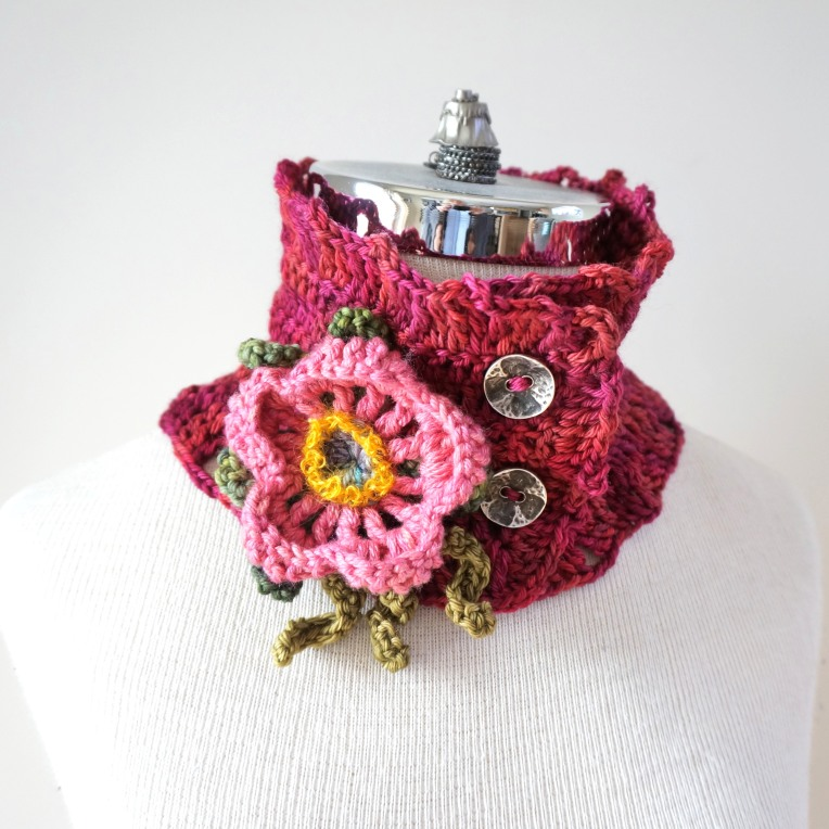wild rose scarf pink3