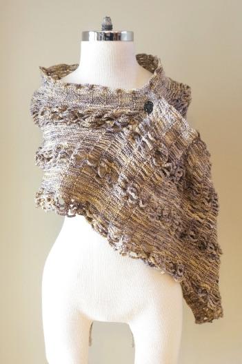 sophia poncho shawl beige stone