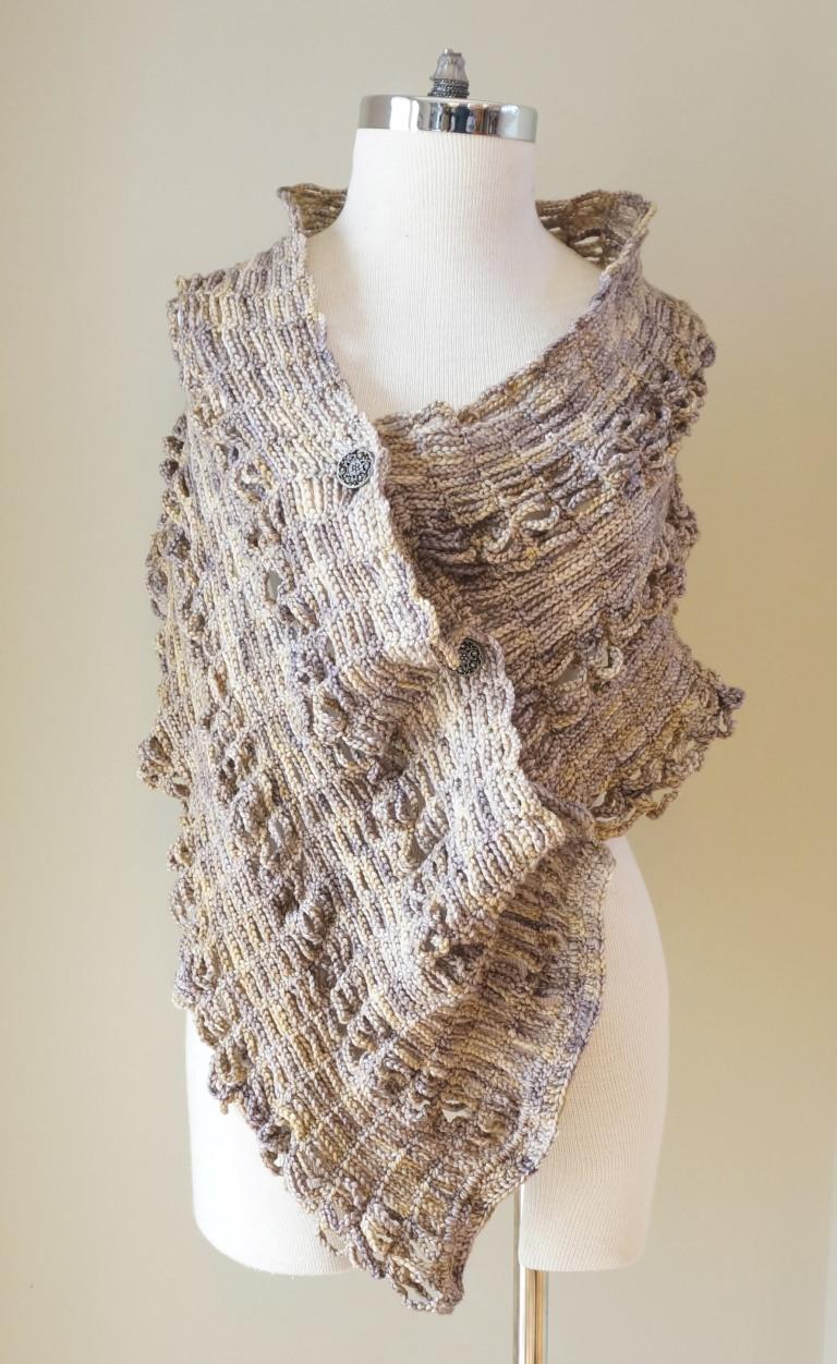 sophia poncho shawl beige stone4