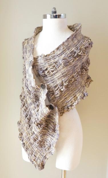 sophia poncho shawl beige stone5