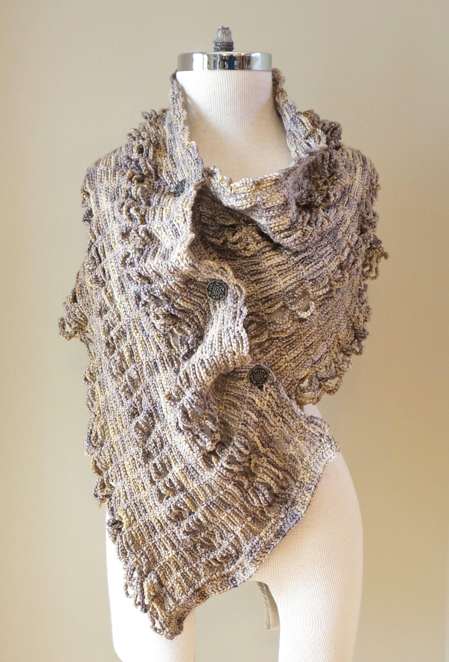 sophia poncho shawl stone