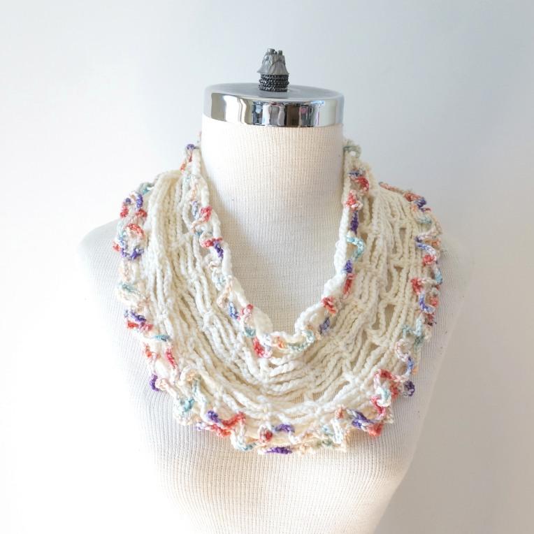 infinity tshirt scarf ivory pastel