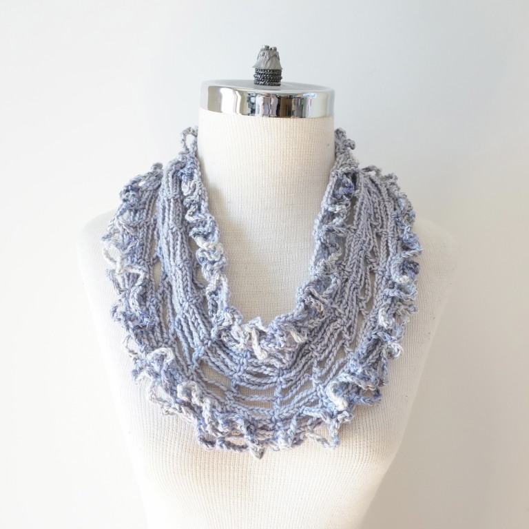 infinity tshirt scarf mauve