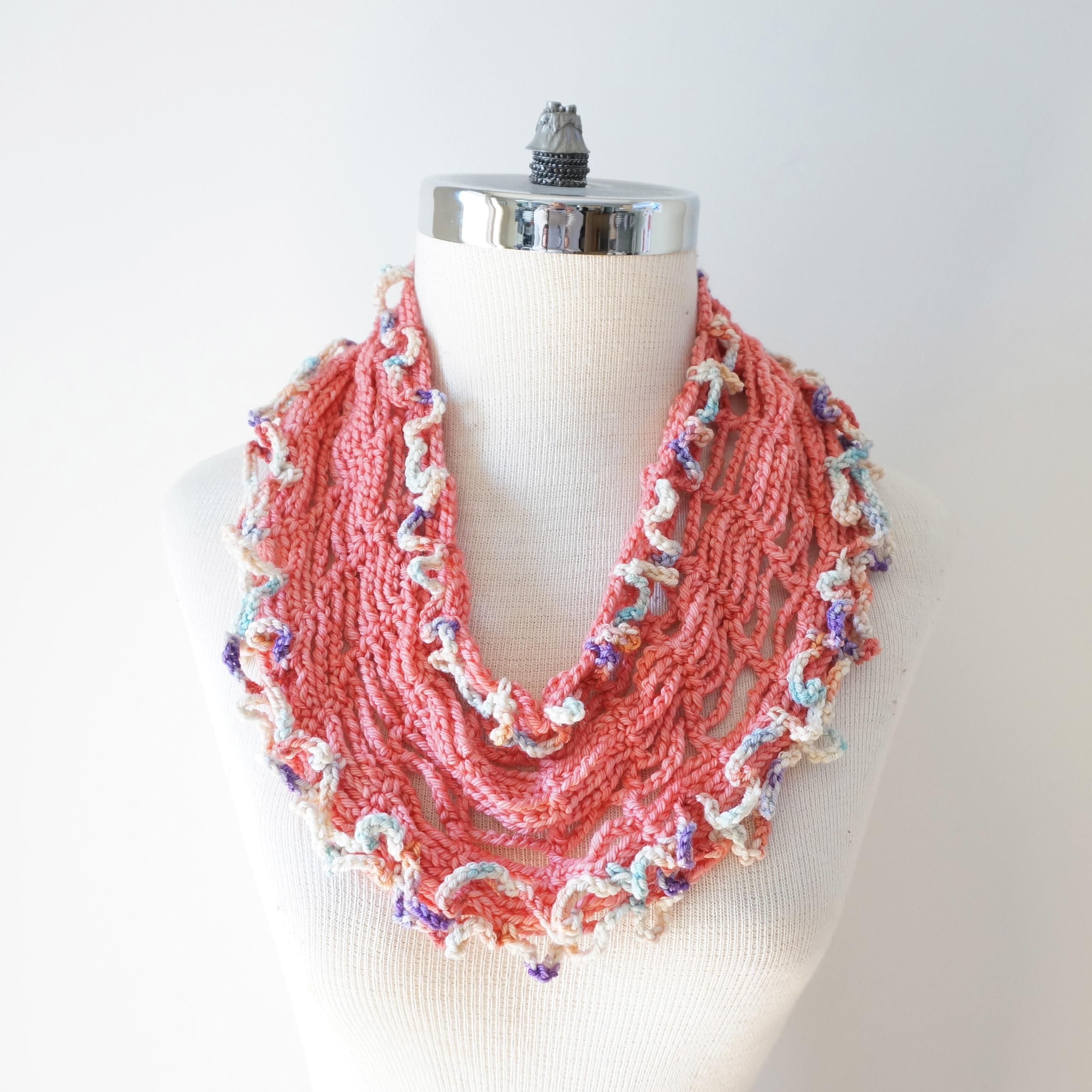 infinity tshirt scarf peach pastel