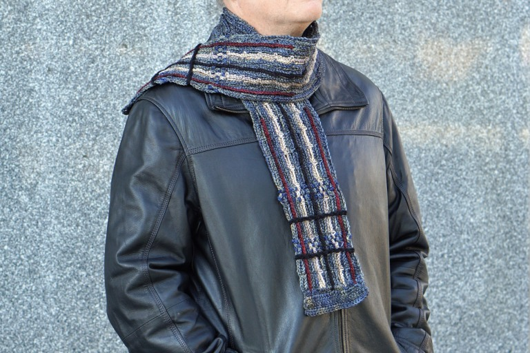 plaid scarf men's gray combo6