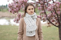 ashley lon scarf blue ivory