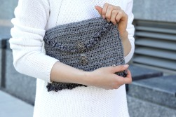 bling clutch square gray1