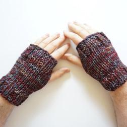men's hand warmers burgundy