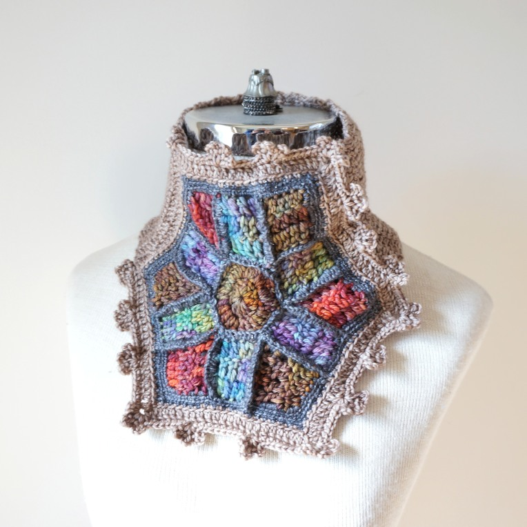 stained glass scarf large window scarf