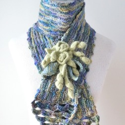 felted-rose-scarf-blue-green1