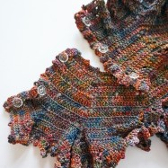 Lace scarf harvest colour13