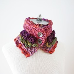 tea rose scarf pink purple3