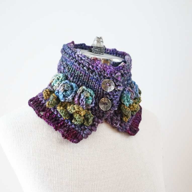 tea rose scarf purple1jpg