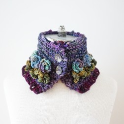 tea rose scarf purple3