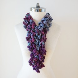 abstract scarf long purples