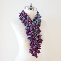 abstract scarf long purples2