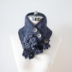 rose angle scarf gray