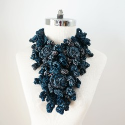 rose onie scarf blue gray