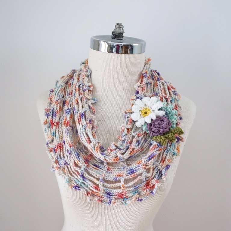 floral infinity scarf pastel1