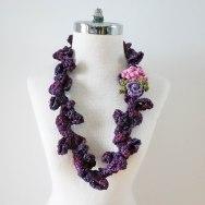 peony rose necklace scarf