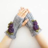 rose hand warmers gray purple2