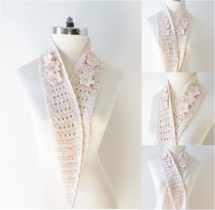 floral blossom long scarves silk combo