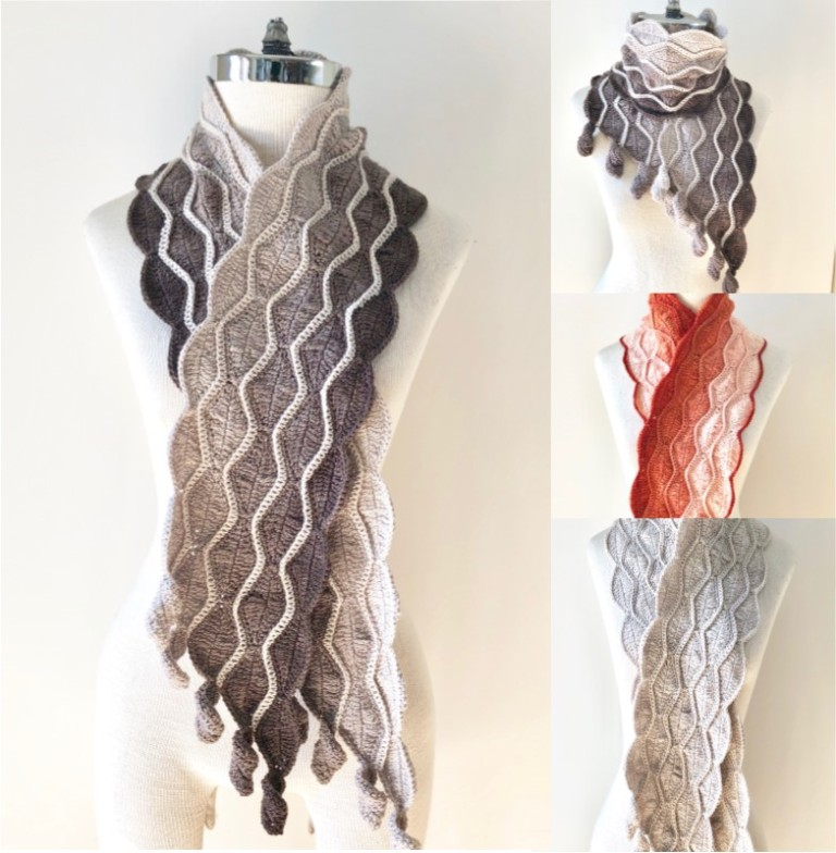 autumn leaves scarf combo